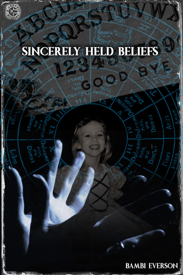 Sincerely Held Beliefs by Bambi Everson. Mandy is caught between her two friends. One a grieving mother, and the other a zealous clairvoyant who is convinced she is receiving messages from the other side. Mandy must try to mediate these two relationships, while staying true to her own beliefs. One act, approximately 80 minutes.
